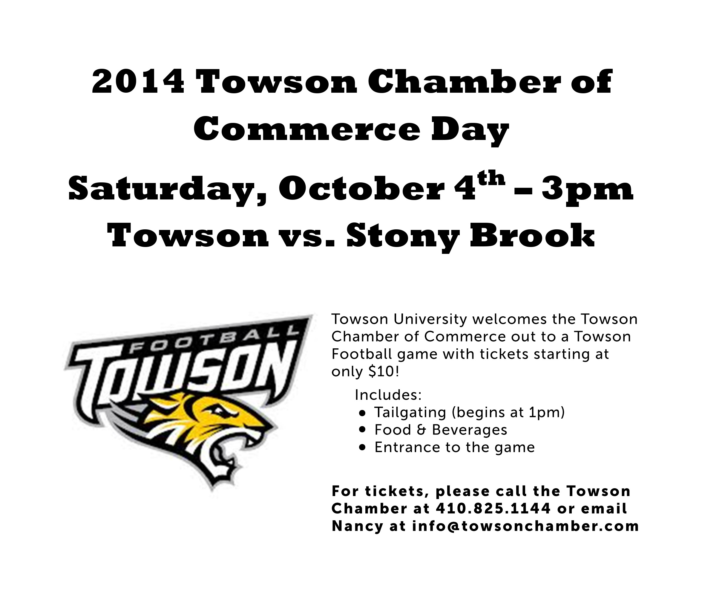 Microsoft Word - 2014 Towson Chamber of Commerce.docx