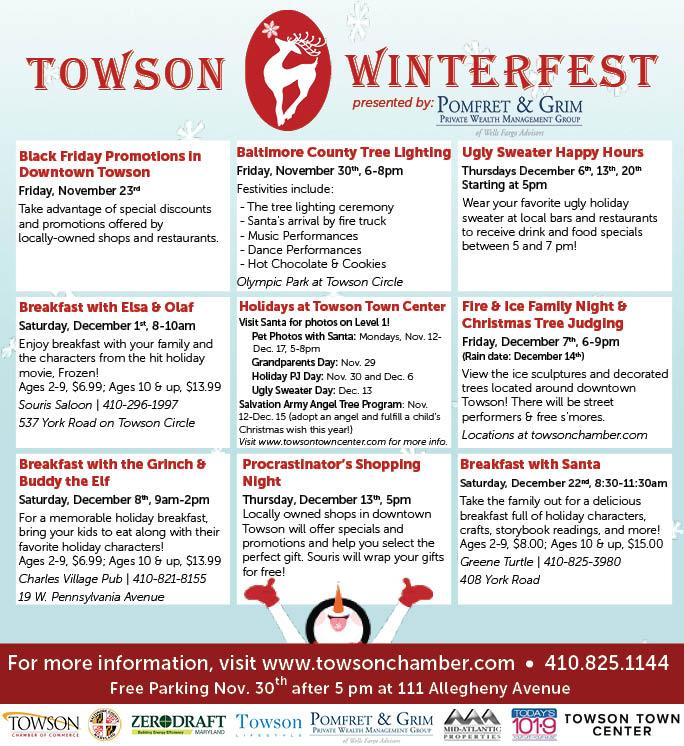 Towson Calendar.Winterfest Towson Chamber Of Commerce